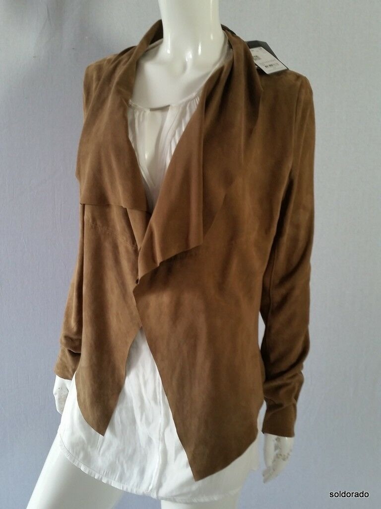 Marc o ´ Polo Cardigan with Goat Leather Brown Size 36, 40 New