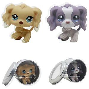 2pcs-Rare-Littlest-Pet-Shop-Cocker-Spaniel-Dog-Animal-LPS-Toy-748-1209