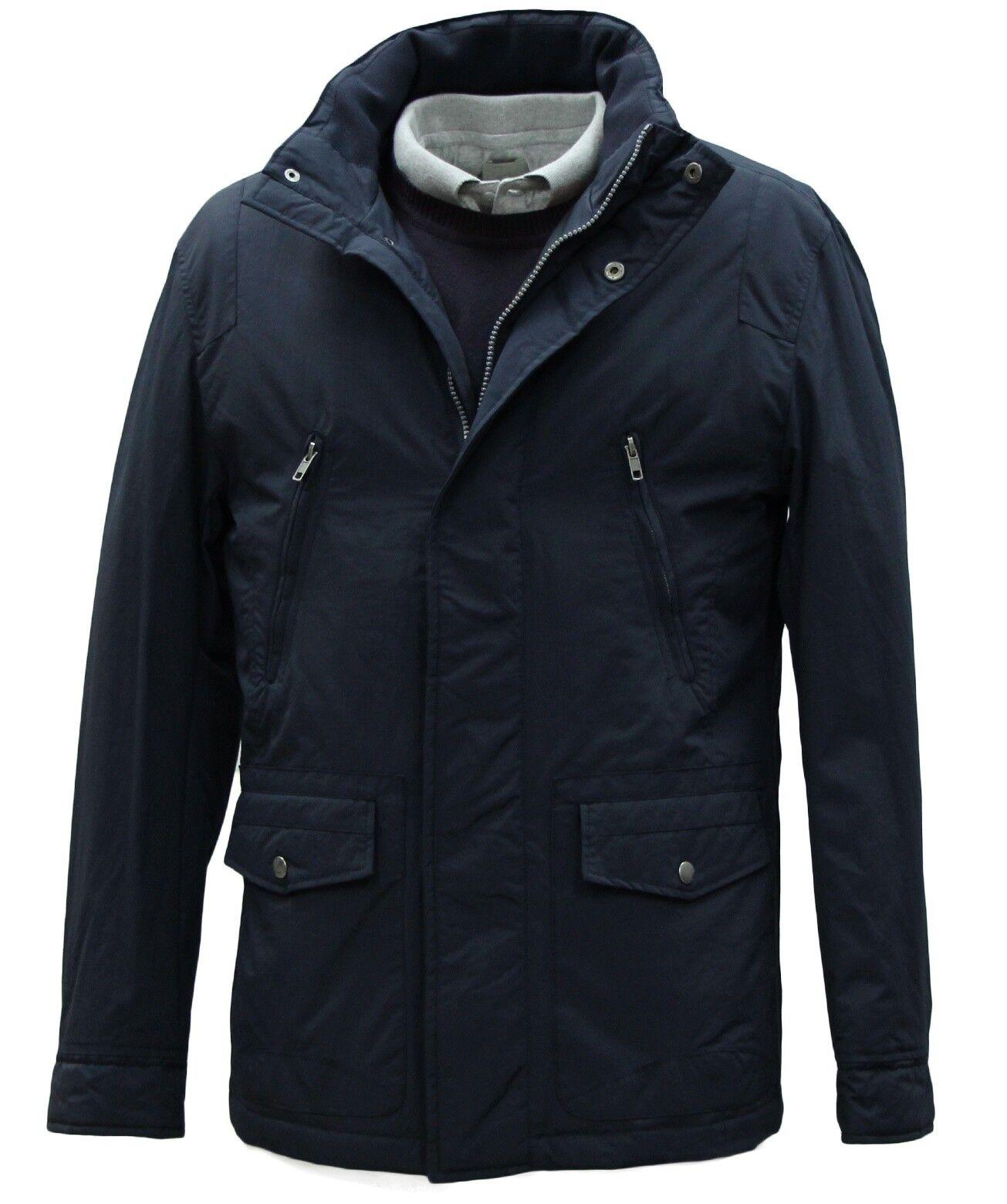 Men's Harry Brown Padded Navy Coat (XL)... sample 1025