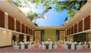 3D Sun Pigeons Forest 788 Wall Paper Wall Print Decal Wall Deco AJ WALLPAPER