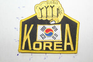 NEW TANG SOO DO KOREA FIST ROUND STITCHED UNIFORM PATCH Martial Arts MMA