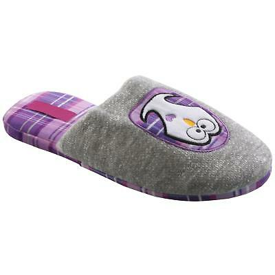 Eule Tier Hausschuhe Pantoffel Schlappen Slipper Plüsch Damen Violett 37-42