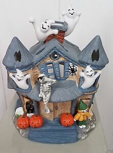 image is loading partylite halloween haunted tealight house candle holder p7311