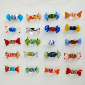 12-24PCS-Vintage-Murano-Glass-Sweets-Wedding-Xmas-Party-Candy-Decorations