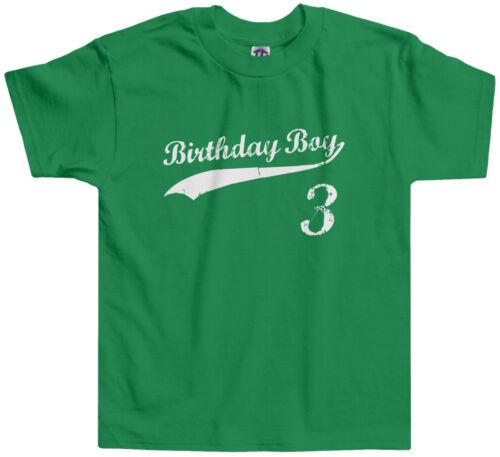 Threadrock Kids Birthday Boy 3 year old Toddler T-shirt happy 3rd