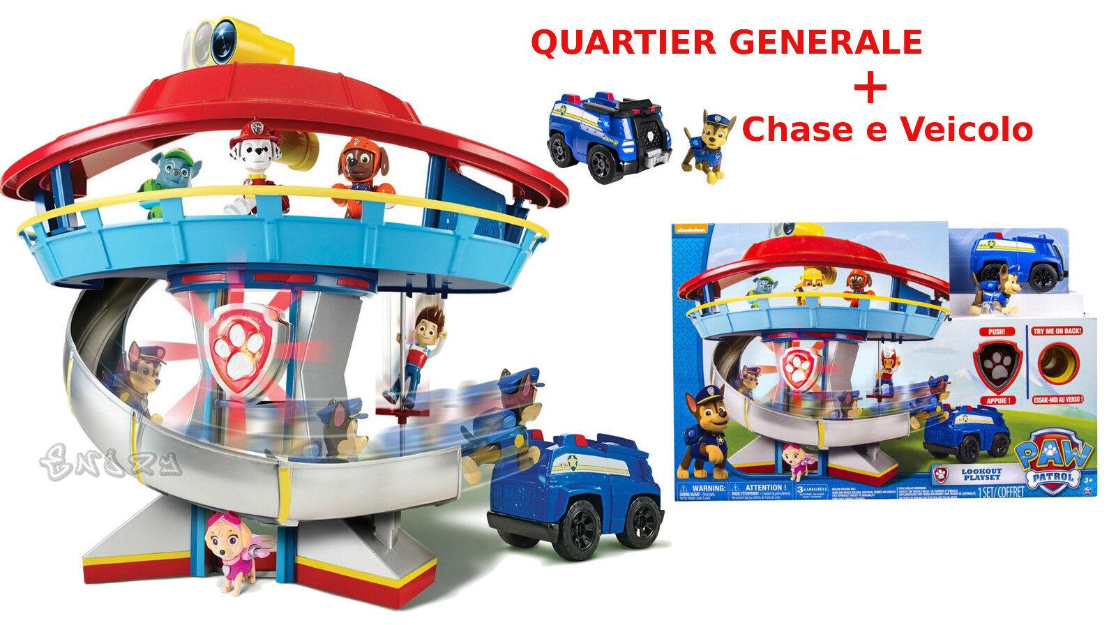 Quarcravater Général Paw  Patrol Base + Chase et Véhicule Nouveauté 2016 Original  point de vente