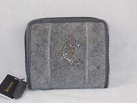 Juicy Couture Gray Velour Studded Linked Jc Zip Around Small Wallet Ysru0100