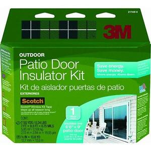 3m 84 x 112 clear outside patio door window insulator for Front door insulation kit