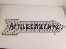 New York Yankee Stadium Tin Metal Arrow Sign MLB Baseball  NEW NO TAGS