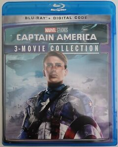 MARVEL CAPTAIN AMERICA: 3-MOVIE COLLECTION BLU RAY 3 DISC SET FREE SHIPPING