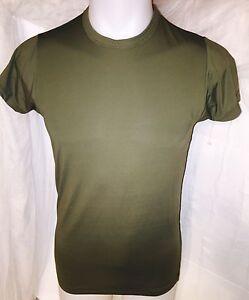USMC-ELITE-ISSUE-MARINE-CORPS-TACTICAL-UNIFORM-SKIVVY-SPANDEX-GREEN-SHIRT-MED