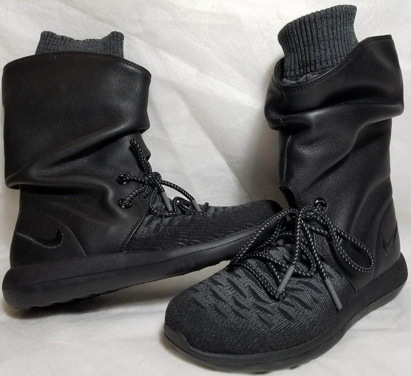 Nuova Nike Roshe 2 Flyed  donna Dimensione 5 - 7.5 Leather nero grigio avvio 861708 001  risparmia il 60% di sconto e la spedizione veloce in tutto il mondo