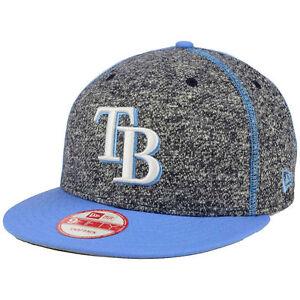 02590d9ff65 Tampa Bay Rays New Era MLB Panel Stitcher Snapback Flat Bill Brim ...