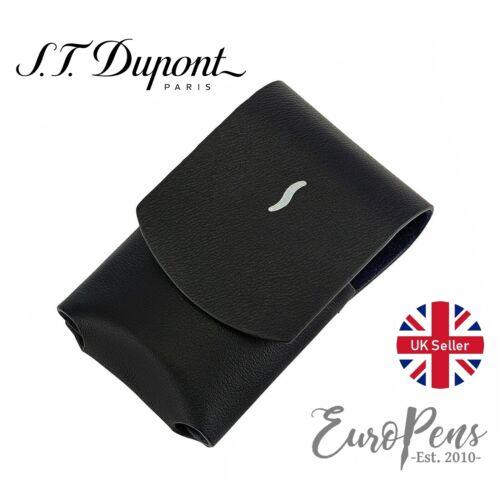 183050 T Dupont Minijet Lighter Leather Case - Black S