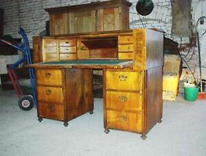 Biedermeier-Sekretaer-Schreibtisch-Nuss-um-1850