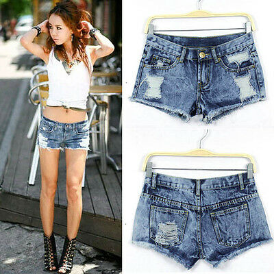 1PC Women Summer Fashion Vintage Denim Low Waist Jean Shorts Hot Pants Perfect
