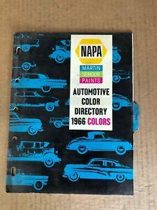 Vintage 1966 NAPA Martin Senour Paints Automotive Color ...