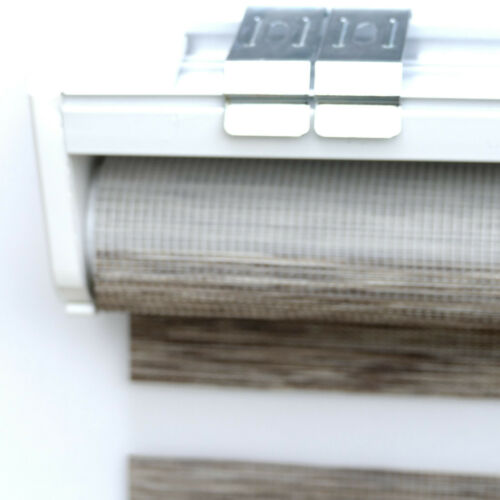 Duo Roller Blind Double White Grey Black Curtains Incl Cassettes New