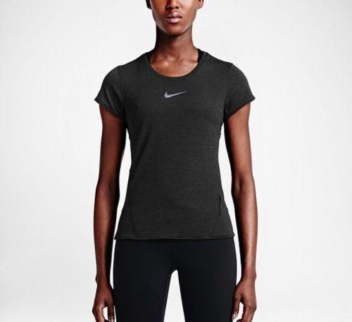 557336283 Womens Nike Dri Fit Aeroreact Short Sleeve Running Shirt 719560 Regular XS  for sale online   eBay