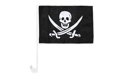 Pirat mit roten Augen Autofahne Autoflagge Fahnen Auto Flaggen 30x40cm