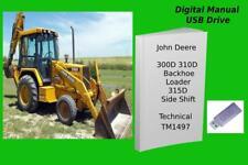 John Deere 300d 310d Backhoe Loader 315d Side Shift Loader Repair Manual Tm1497