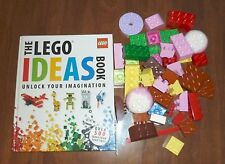 LOT OF 45 MISC LEGO PIECES & THE LEGO IDEAS BOOK