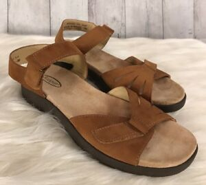 ROCKPORT-Women-sandals-size-US-7-5-brown-suade-leather-shoes-Brazil-EU38