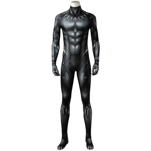 Avengers 3 Infinity War Black Panther T'Challa Cosplay Jumpsuit Mask Outfit