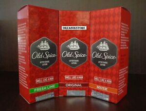 OLD-SPICE-Aftershave-Lotion-Men-Original-Musk-Fresh-Lime-50m-100ml-150ml