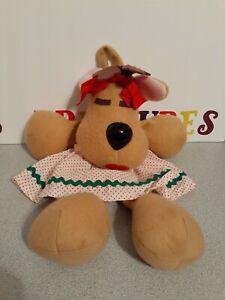 Vintage-1986-Hallmark-Cards-Rhonda-Reindeer-14-034-Plush-Christmas-Stocking