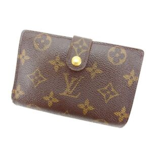 Louis-Vuitton-Wallet-Purse-Coin-purse-Monogram-Brown-Woman-Authentic-Used-Y3042