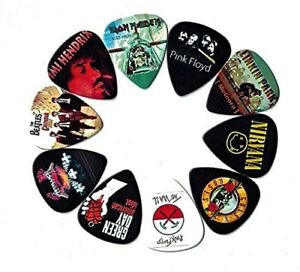 Legendary-Bands-Guitar-Picks-10-medium-picks-in-a-packet-For-Music-Lovers