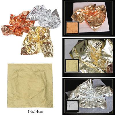 vergolden ähnlich wie 24k Blattgold ca 7 x 14 cm 100x Schlagmetall Gold 2.0