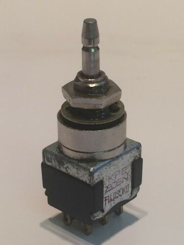 SMALL HIGH QUALITY LATCHING DOUBLE POLE FOOT OR PANEL SWITCH  fbb15a32