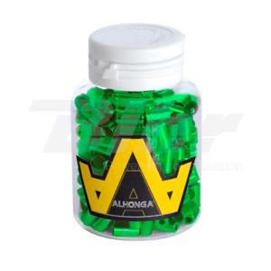 15563 Testa per guaina cavo Ø5mm in ottone rinforzato  CNC green (200 pezzi)  100% genuine counter guarantee