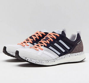 more photos 6d2b0 f835a Image is loading Womens-ADIDAS-Sneakers-ADIZERO-TEMPO-9-White-Running-