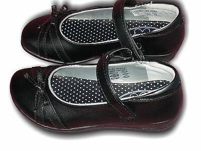 Girls Shoes School Formal Black Vel US Brass Drizzle Sizes 8-2 Available