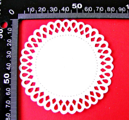 Any Colour//Card 2 Sets of 3 Dotted Doily Circle Frames Die Cuts Sweet Dixie