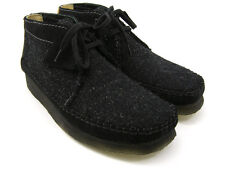 Clarks Originals ** WALLABEES WEAVER ** BLACK COMBI BOOTS ** UK 11 / 10.5