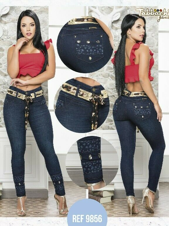 Colombian Skinny Jeans Blau Push Up Molding Butt Lifter High Rise Levanta Cola