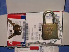 American Lock Skilcraft Solid Steel Case Padlocks Withchain 5881010 6pcs