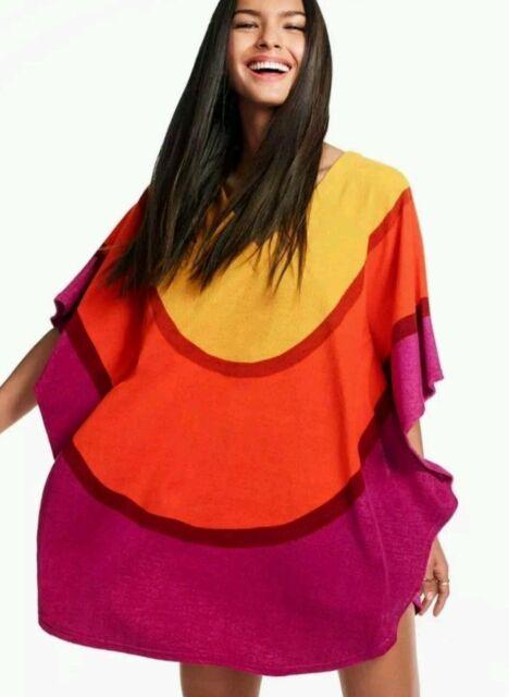 Marimekko Womens Melooni Poncho Style Cover Up Size Large/X-Large