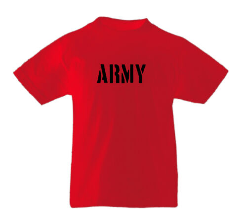 ARMY Childrens Boys Girls Kids Cool Fun Casual Top T-Shirts Age 3-13 Years
