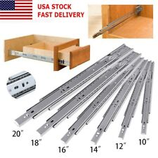"""14-24"""" Full Extension 100lbs Soft-Close Side Mount Ball Bearing Drawer Slides"""