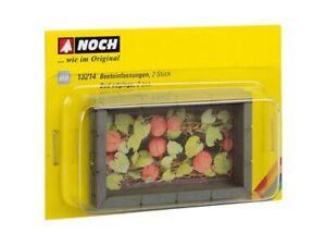 13214-encore-HO-Beeteinfassungen-2-Pieces-6-5-x-4-cm-Laser-Cut-mini-modele