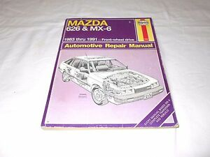 1983 1991 mazda 626 mx 6 automotive repair manual haynes 1082 rh ebay com
