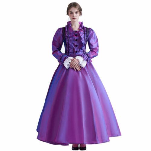 Blessume Women Victorian Ruffles Dress  for Renaissance Ball Gown with Bustle