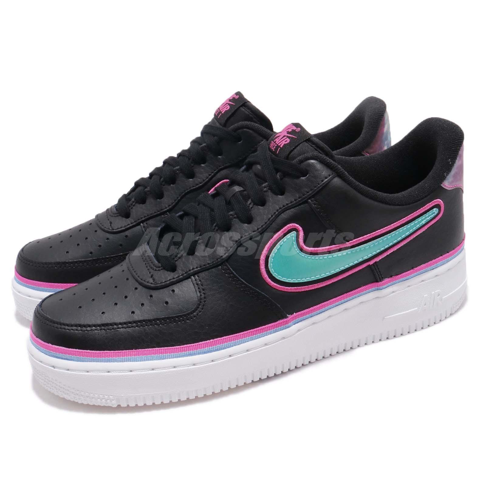 Nike Air Force 1 07 LV8 Sport AF1 NBA Maimi South Beach Men scarpe AJ7748-002 | Nuovo  | Scolaro/Ragazze Scarpa
