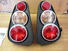 2002-2006 New Set Mini Cooper Tail Lights Lamps Euro Retro 3D Flat Black
