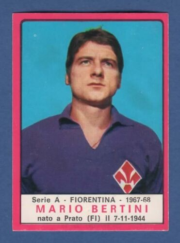 FIGURINA CALCIATORI PANINI 1967//68 FIORENTINA BERTINI